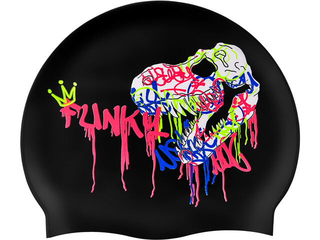 Funky Trunks Silicone Swimming Cap 10 Pieces Men, sexy rexy
